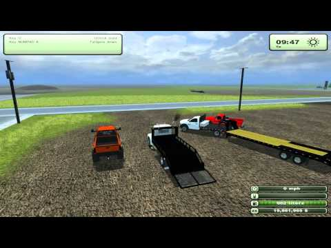 Farming Simulator 2013 Mods - Dodge 2500 Lifted. Landscape truck. 82 Silverado