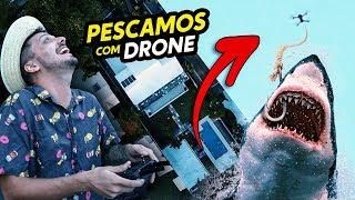 PESCAMOS UM TUBARÃO COM DRONE!!!