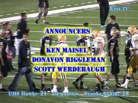 University High School (Morgantown, WV) vs Brooke Bruins, varsity football