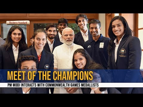 Meet of champions: PM Modi interacts with Commonwealth Games medallists