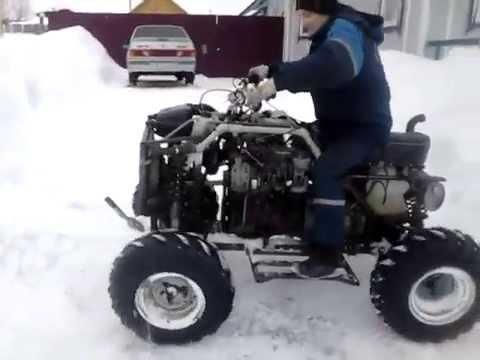 Квадроцикл с двигателем от ваз