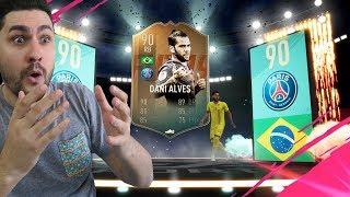 FIFA 19 FLASHBACK DANI ALVES CHEAPEST METHODS !! AMAZING PACK LUCK IN REWARDS !!!