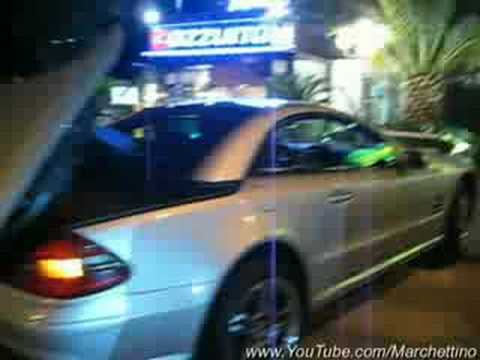 Mercedes SL55 AMG Start Up and Top Motion