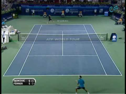 Novak Djokovic & David Ferrer Good Raly Video