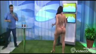 Wow model bikini seksi tampar presenter tv