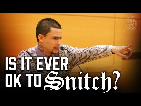 Is it ever ok to SNITCH?  Prison Talk 1215