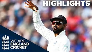 Kohli Runs Out Root To Spark England Collapse | England v India 1st Test Day 1 2018 - Highlights