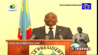 Message du Président Kabila à la Nation suite à la victoire des FARDC, 30 Octobre 2013