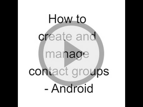How to create and manage customised groups   Android