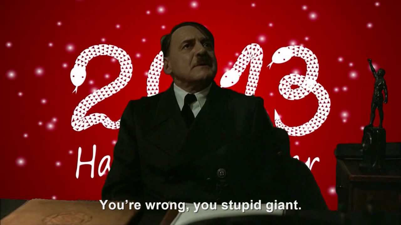 Hitler is wished a Happy New Year 2013