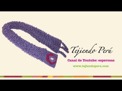 Bufanda en punto corderito a crochet (Parte 2)