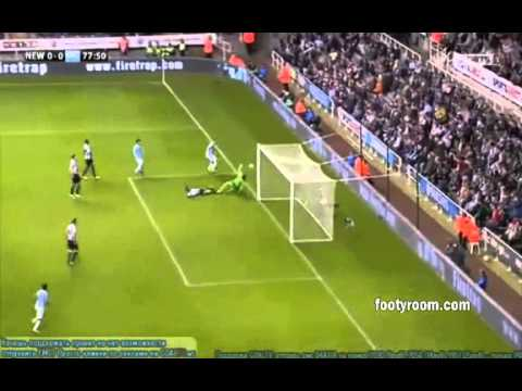 Newcastle United 0--2 Manchester City Highlights (30-10-2013)