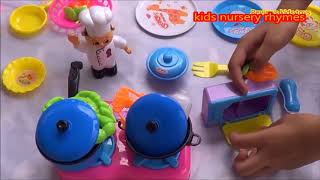 TOP Toy Kitchen Velcro fruits vegetables Pretend cooking