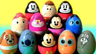 Disney Easter Eggs Surprise Toys for Kids Stitch Lady Tramp Woody Jessie Nemo Dory by Funtoys