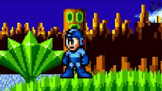 Mega Man In Green Hill Zone (Sprite Animation)
