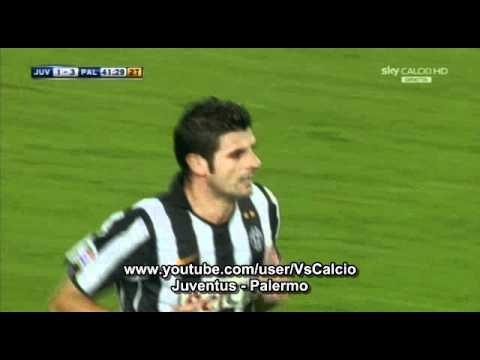Juventus - Palermo 1-3 Il gol di Iaquinta