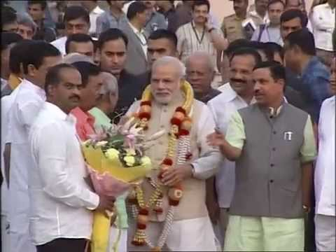 PM Modi Arrival at HAL Airport, Bengaluru
