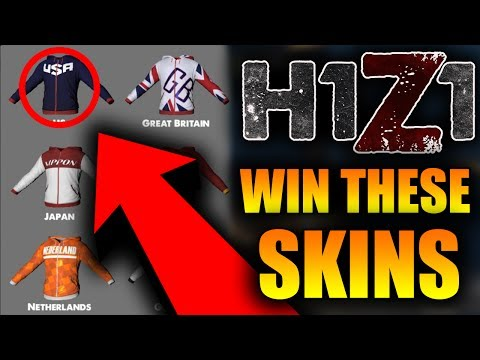 You Could Win a FREE Country Hoodie! H1Z1 MORE Brand New Hoodie Skins! (USA, China, Sweden)