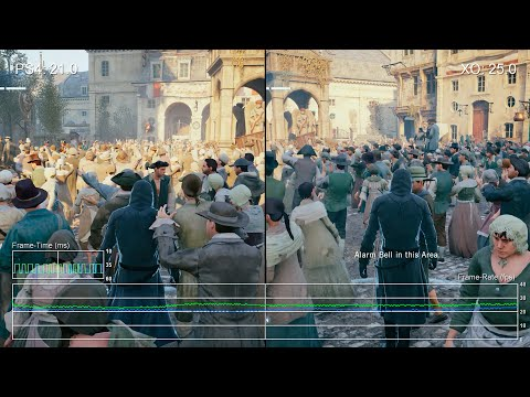 Assassin's Creed Unity: PS4 vs Xbox One Gameplay Frame-Rate Test