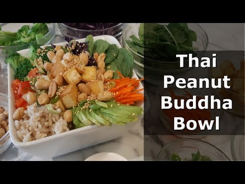 Thai Peanut Buddha Bowl ~ VEGAN recipe