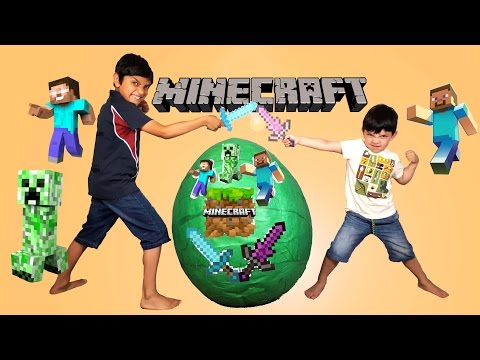 Minecraft Giant Toys Surprise Egg Opening