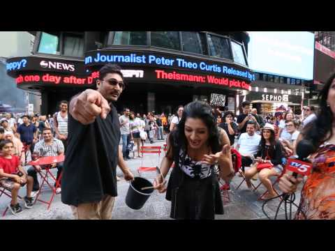 Vimala Raman - ALS Ice Bucket Challenge at Times Square