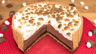 S'mores Ice Cream Cake from Cookies Cupcakes and Cardio