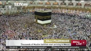 Thousands of Muslim faithfuls start arriving in Mecca