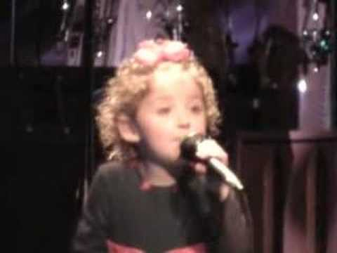 "Avery singing ""Happy Birthday, Jesus"" during the 2006 Cactus Family Christmas Celebration. Intro by Cami Caldwell. (December 16, 2006) Opening slide is Avery..."