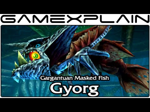 Zelda: Majora's Mask 3d Gameplay - Gyorg Boss Battle (direct Feed - 3ds) video