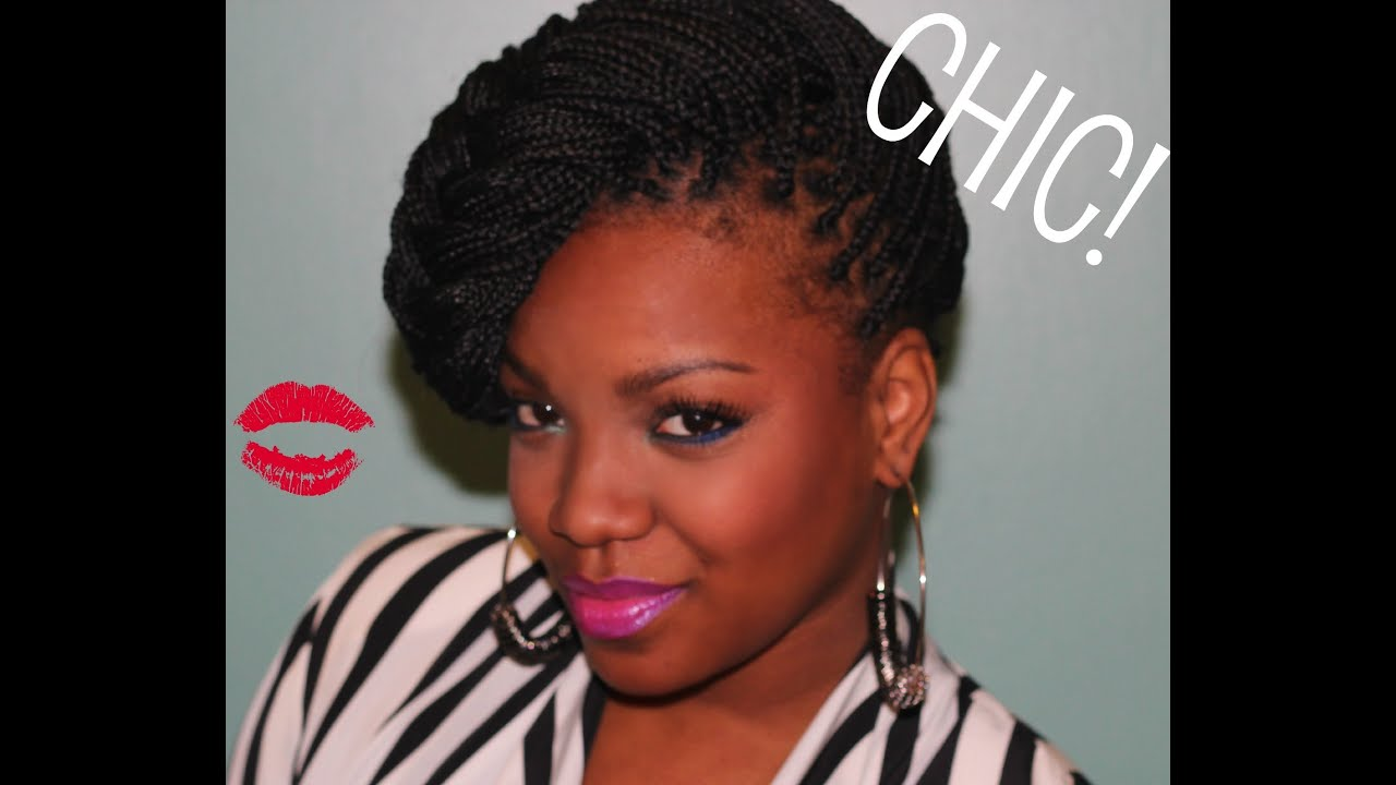 different natural hairstyles : How to style your box braids! - YouTube