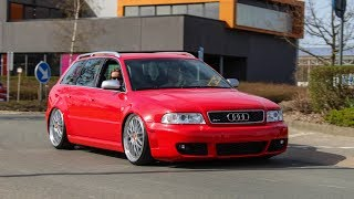 Audi RS4 B5 compilation - Accerelations , Flames , Bangs , Sounds