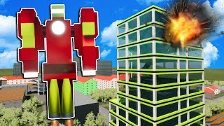 We Save the City After Finding a Lego Iron Man Suit in Brick Rigs!
