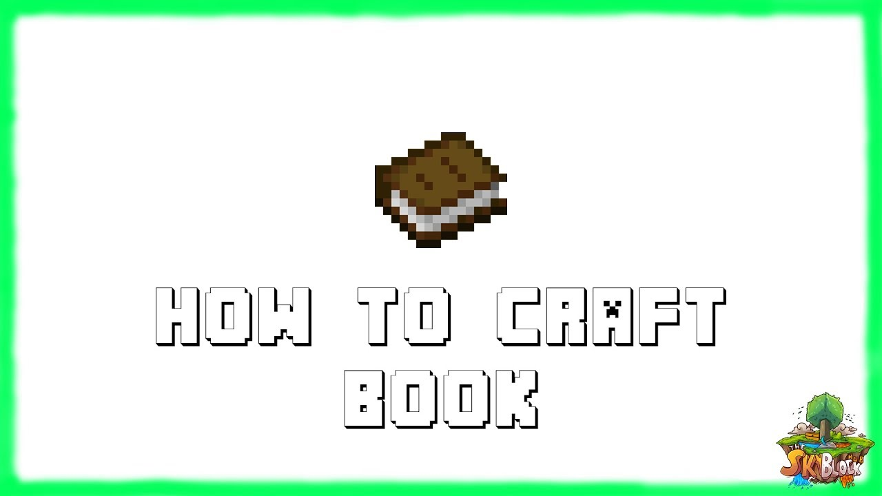 How To Make A Book Minecraft ~ Minecraft how to make a book recipe tutorial for