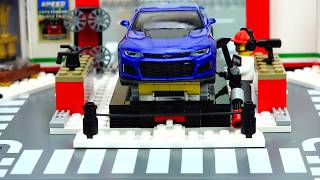 Sports Cars Crashed and Repair in Toy Car Service Video for Kids