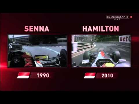 Lewis Hamilton / Ayrton Senna comparison Monaco (Sky F1)