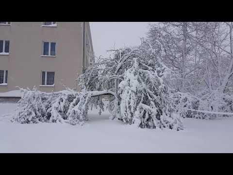 Zimowo W Częstochowie Napadało Do 34cm śniegu 19.04.2017.5:40