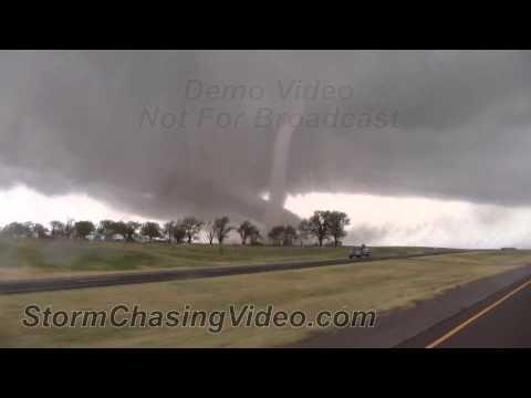 11/7/2011 Tipton, OK Tornado Footage, long format video.