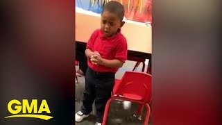 3-year-old praying during school lunch warms hearts of millions | GMA