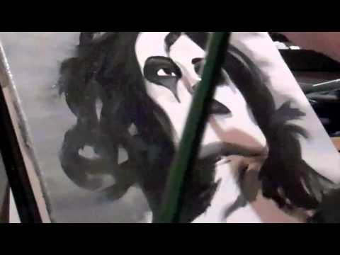 Meeting Nikki Sixx & Giving Him My Painting. (Speed Painting at the End)