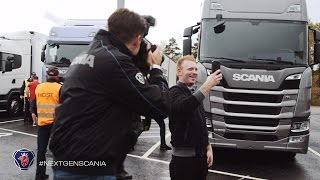 Scania contest winners test drive the next generation trucks