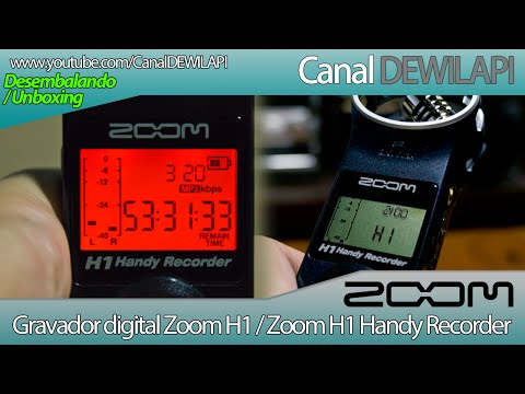 Unboxing / Desembalagem e review do gravador digital Zoom H1 - Português BR - 1080p HD