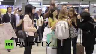 Japan: Ariana Grande whips fanatics into frenzy at Tokyo airport