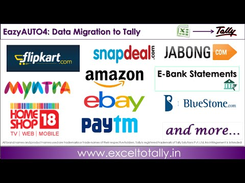 Import Sales Amazon, Flipkart, Snapdeal Paytm to Tally.ERP9