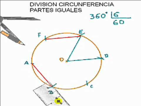 Divisi n de una circunferencia en partes iguales youtube for Partes de una escalera