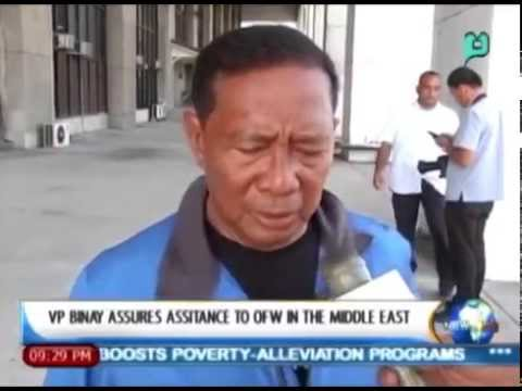 [News Life] VP Binay Assures Assistance to OFW in the Middle East [05 26l14]