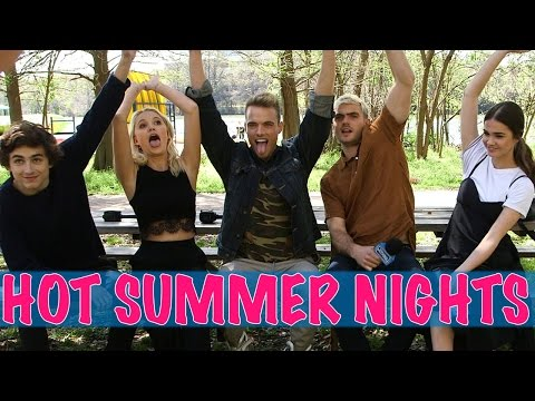 HOT SUMMER NIGHTS Cast Reveal Celeb Crushes!