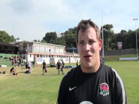 New England Cap Tom Johnson after training | Rugby Video Highlights 2012 - New England Cap Tom Johns