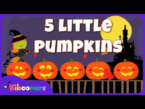Five Little Pumpkins Sitting On a Gate  Halloween Songs for Kids  Pumpkin Song  The Kiboomers