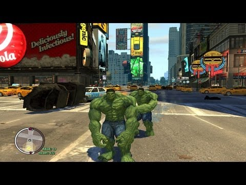 Grand Theft Auto IV - The Incredible Hulk Script (Hulk Enemy VS Hulk MOD) HD